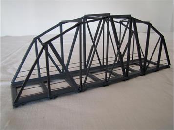HACK 13030 HO Bogenbrücke 24 cm grau, B24 Fertigmodell aus Weissblech