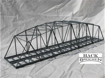 HACK 13500 HO Bogenbrücke 50 cm 2-gleisig grau, B50-2 Fertigmodell aus Weissblech