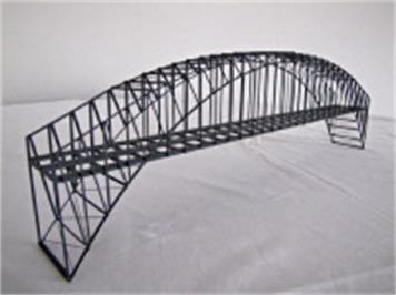 HACK 23150 N Bogenbrücke 50 cm 2gleisig grau BN50-2, Fertigmodell aus Weissblech