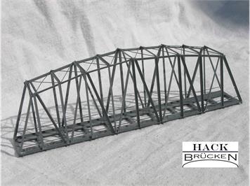 HACK 43050 Z Bogenbrücke 14 cm BZ14 Fertigmodell aus Weissblech