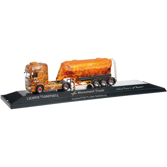 "Herpa 121552 Scania R '09 TL Eutersilo-Sattelzug ""Herpa Monument Truck"" HO"