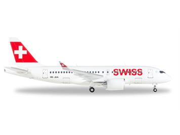 Herpa 558471 Swiss International Bombardier CS100 Reg. HB-JBA 1:200