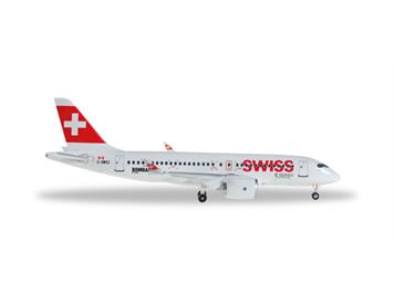 Herpa 562522 Bombardier CS100 Swiss International 1:400
