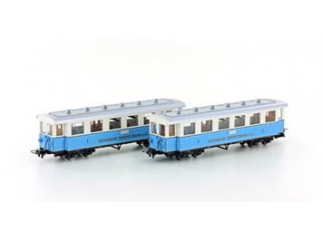 "Hobbytrain H43101 Personenwagen-Set ""Zugspitzbahn"" 2er Set, HOm"