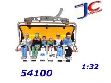 Jägerndorfer 54100 6 Winterfiguren ohne Ski 1:32