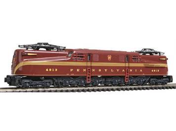 """KATO 137-2003 GG1 Pennsylvania Railroad Tuscan Red """"Five Stripe"""" #4913"""