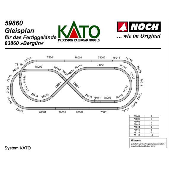 Kato 79840 Gleispaket zum Fertiggelände Bergün Spur N