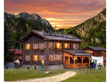 Kibri 38004 Haus Sonnenhalde inkl. Hausbeleuchtungs-Startset