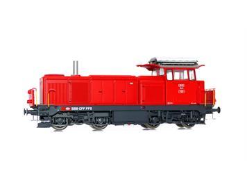 L.S. Models 17069 Diesellok Bm 4/4 verkehrsrot mit Signum verkürzt und Kamin SBB HO