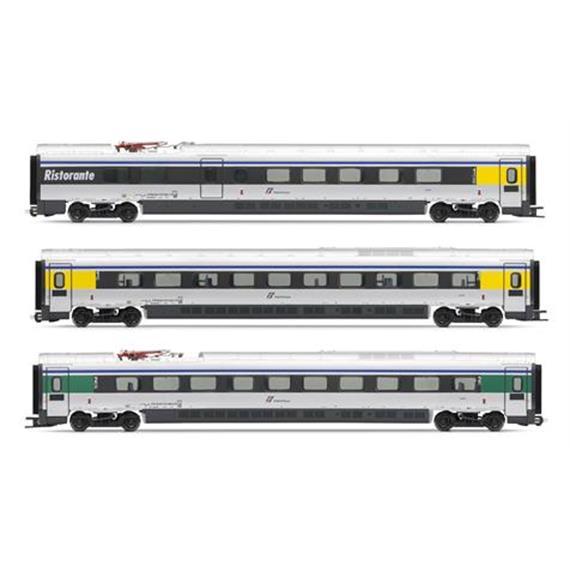 Lima HL4650 FS Zusatzwagenset zu ETR610 Cisalpino-Silber 3teilig