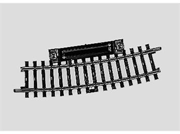 Märklin 2239 Schaltgleis gebogen. Länge 1/2 = 15°. Radius 424,6 mm.
