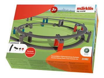 """Märklin 23302 Kunststoffgleis """"Ergänzungspackung Hochbahn"""""""