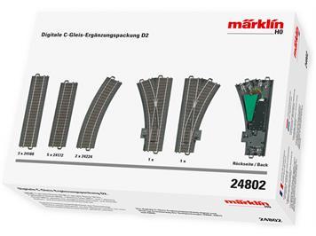 Märklin 24802 Digitale C-Gleis Ergänzungspackung D2