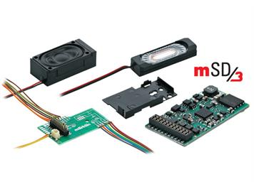 Märklin 60977 märklin SoundDecoder mSD3 mit Leiterplatte, voreingestellter E-Lok-Sound