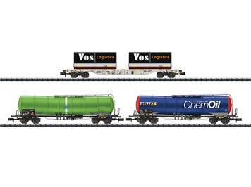 "Minitrix 15651 Wagen-Set ""Gütertransport Schweiz"" N"