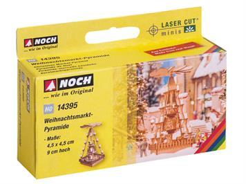 Noch 14395 Laser-Cut Weihnachtsmarkt-Pyramide HO