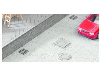 "NOCH 14632 Laser-Cut minis ""Kanaldeckel & Gullys"" N"