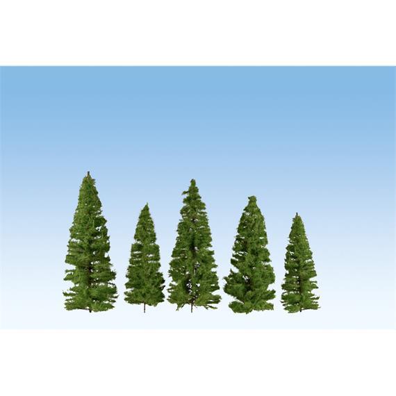 Noch 24501 Fichten mittelgrün, 7 Stk. 7 - 14 cm hoch
