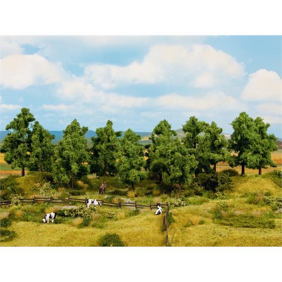 Noch 24601 Laubbäume 16 Stück, 10 - 14 cm hoch, H0