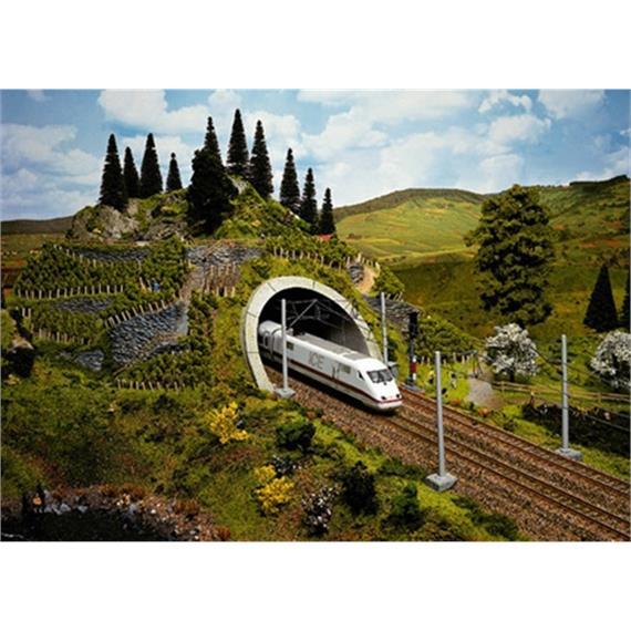 NOCH 58040 ICE-Tunnel-Portal, 2-gleisig, 18 x 23 cm Spur H0