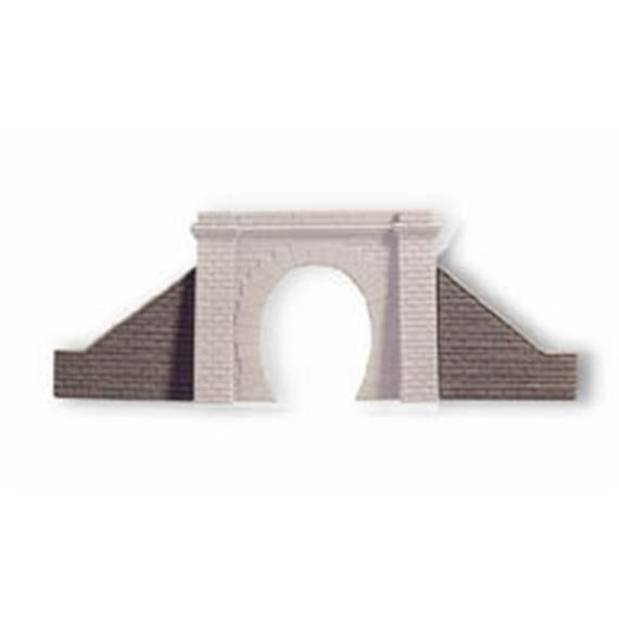 NOCH Flügelmauern für Tunnelportal, 1-gl., 2 Stück, je 9 x 8 cm Spur H0