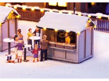 Noch Weihnachtsmarkt Kombi-Set HO