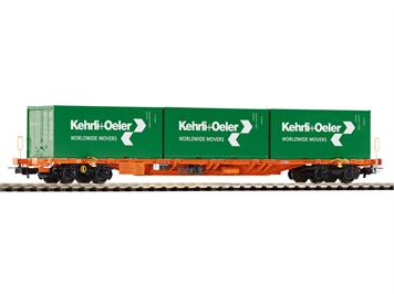 "PIKO 54685 SBB Tragwagen Sgnss mit 3 Containern ""Kehrli + Oeler"" HO"