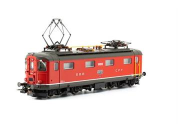 PIKO 96872 SBB E-Lok Re 4/4 1. Serie 10018 rot, DC- digital mit Sound, H0