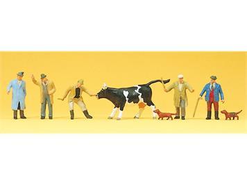 Preiser 10048 Viehhandel HO