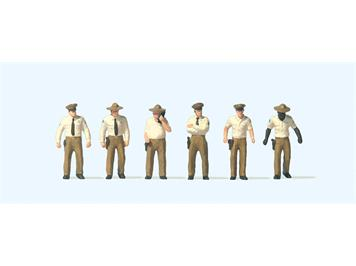 Preiser 10796 US Sheriff Deputies, H0