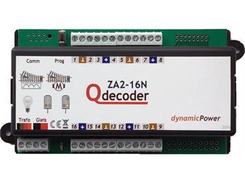 Qdecoder QD114 Standart Motorenweichendecoder Qdecoder ZA2-16N (mit Schraubanschlüssen)