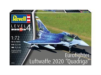 Revell 03843 Eurofighter Luftwaffe 2020 Quadriga, Maßstab 1:72