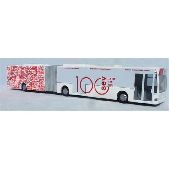 """Rietze 67049 MB Citaro G '98 Gelenkbus """"100 Jahre SEV"""", H0"""