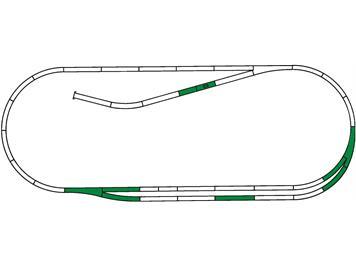 Roco 42011 Gleisset C Roco line mit Gummibettung