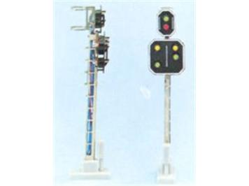 Schneider 2202 SBB Hauptsignal m. Vorsignal 6 LED 66mm