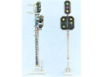 Schneider 2204 SBB Hauptsignal mit Vorsignal 7 LED 69mm