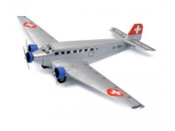 "Schuco 403551901 Junkers Ju 52/3m ""Tante Ju"" der Schweizer Luftwaffe, silber, 1:72"