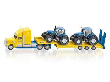 SIKU 1805 LKW mit New Holland Traktoren