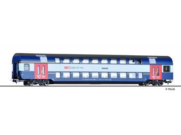 Tillig 73811 HVZ Doppelstockwagen 1./2. Klasse (rote Türen) HO