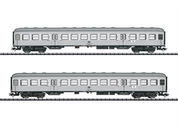 """TRIX 23147 Eilzug-Wagenset 2. Klasse """"Silberlinge"""" zu BR 95 DB (2), H0"""