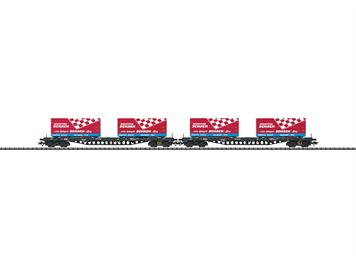 TRIX Containertragwagenset DB
