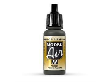 Vallejo 71.013 Model Air 17ml, YELLOW OLIVE, FS34052 - RAL6015