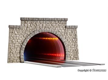 Viessmann 5097 H0 Straßentunnel klassisch, mit LED Spiegeleffekt und Tiefenwirkung