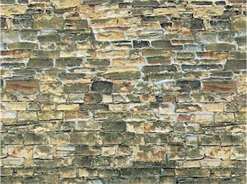 Vollmer 46043 Karton-Mauerplatte Naturstein braun HO
