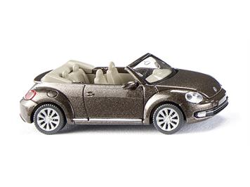 Wiking 02802 VW The Beetle Cabrio toffeebraun met.
