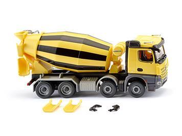 Wiking 068149 Fahrmischer MB Arocs/Liebherr, gelb/schwarz HO