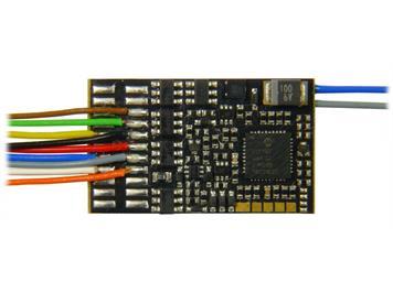 ZIMO MX635 HO-Decoder mit Energiesp.-Ansch.(16V), 1,8 A, 10 Fu-Ausgänge, an 11 Litzen