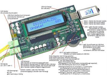 ZIMO MXULFA Update-Gerät mit Display-Anzeige
