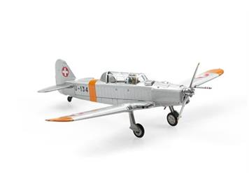 ACE 001552 Pilatus P-2-06 U-134 Orange/Alu Dübendorf (1970), 1:72