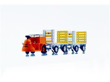 ACE Arwico Collection Edition 008703 SBB NEFAG Schlepper 3-Rad mit 2 Trolleys SBB, 1:87